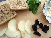 Brie pomme poire pruneau sandwich gourmet!