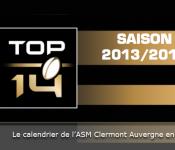 TOP14 calendrier 2013 2014 l'ASM Clermont Auvergne
