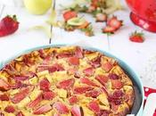 Clafoutis fraises pommes