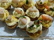 Mini-cupcakes crevettes Mini shrimp cupcakes