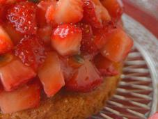 Tartare fraises fruits passion sablé l'amande