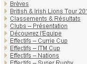 Rugby Quelques nouveautés site