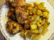 Poulet pommes terre nouvelles four