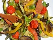 Salade légumes rôtis menthe