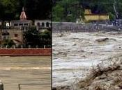 Avant après inondations dans l'Uttarakhand