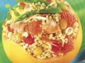 Pamplemousses farcis saumon céréales gourmandes tipiak