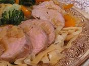 Filets porc choys nouilles chinoises