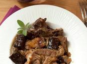 Côtes porc secondes confites l'aubergine figue