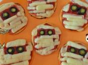 "Mini-pizzas ""momies"" d'Halloween"