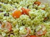 Salade pates pesto tomates cerises