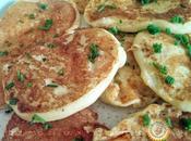 Pankakes Pommes terre Paprika sauce Pesto
