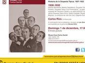 dernière conférence Carlos Ríos pour saison 2013 Gardel l'affiche]