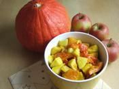 Salade fruits d'automne, potimarron rôti miel épices pommes
