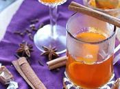 Boisson chaude cidre, caramel épices