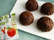 muffins hyperprotéinés pomme chocolat muesli avec psyllium, farines lupin soja