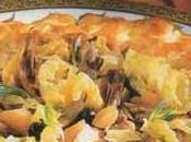 Tourte pigeons foie gras canard mi-cuit genièvre