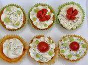Cupcakes salés parmesan caviar tomates