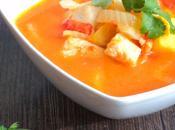 Soupe poisson, patate douce fenouil