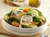 Salade Ratte Touquet chèvre chaud