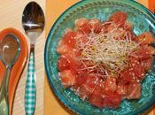 Tartare saumon pamplemousse