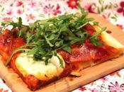 Pizza maison coppa, roquette mozzarella