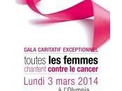 Gala 2014 femmes chantent contre cancer l'Olympia Paris