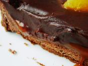 Tarte tout chocolat, ganache caramel coulant citron meyer...