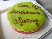 Fraisier anniversaire Moumoune