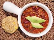 """Chili végétalien """"full viandeux"""" muffins maïs pour réconfort"""