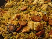 Paella poulet chorizo