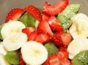 salade fruits banane, fraise, kiwi