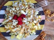 Salade d'endives bleu d'auvergne, noix vinaigre framboise