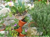 Bricolage jardin tour pots