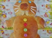 Lapin Pâques brioché
