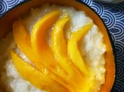 gluant lait coco mangue fraîche khao niao mamuang