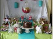 Sweet tables printanières pour Pâques l'anniversaire fille