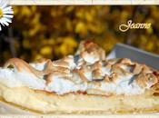 Tarte chocolat blanc meringuée