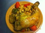 recette couscous poulet legumes marocain sauté