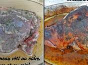 Gigot d'agneau rôti cidre, thym miel