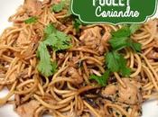 Nouilles sautées poulet coriandre