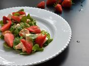 Salade sucré-salé fraise poulet