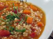 Soupe tomates couscous marocain