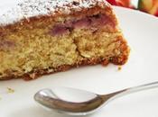 Aujourd'hui, j'ai testé gâteau moelleux fraise rhubarbe