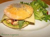 Chicken burger maison guacamole
