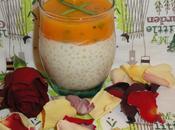 Verrine risotto d'orge perle, gelee melon l'estragon