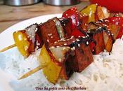 Brochettes tofu miel sésame grillé