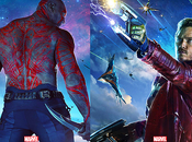 MOVIE Gardiens Galaxie Star-Lord Drax s'affichent mode badass