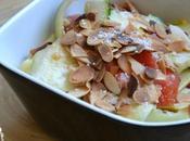 Tagliatelles courgettes salade
