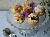 Choux confiture myrtilles chantilly