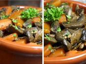 Poêlée champignons carottes persillées